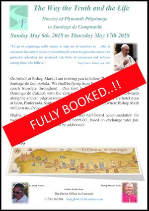 Flyer for Santiago 2018 pilgrimage